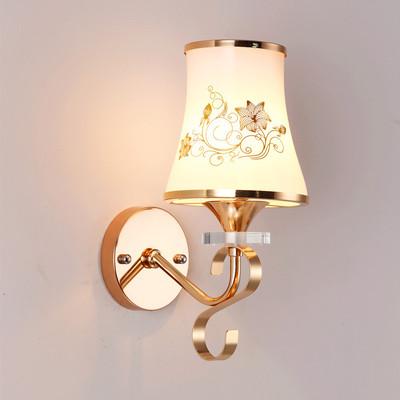 欧式简约现代水晶壁灯 卧室温馨床头灯 双头客厅过道楼梯灯饰灯具品牌巨惠