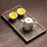 Zhe Ming Fengyan Rock Bamboo Tea Tray Office Tea Sea Small Pot Hold Mini Tea Table Dry Bubble Table Large Paint Pot Mat