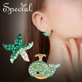Special欧美海洋耳环ins少女心耳夹耳针耳钉不对称耳饰海底party