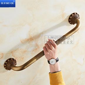 全铜浴室扶手欧式卫生间浴缸扶手仿古毛巾架卫浴五金挂件纯铜雕花
