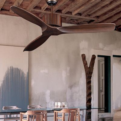 实木吊扇灯客餐厅家用美式复古典不带灯风扇灯静音无灯北欧简约评测