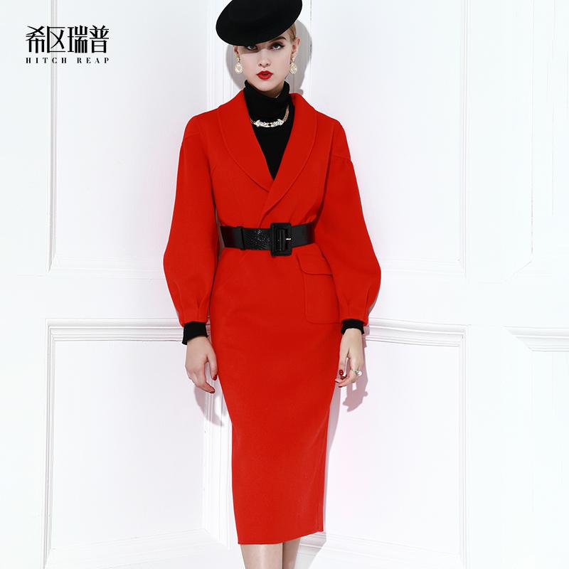 裙式羊毛大衣