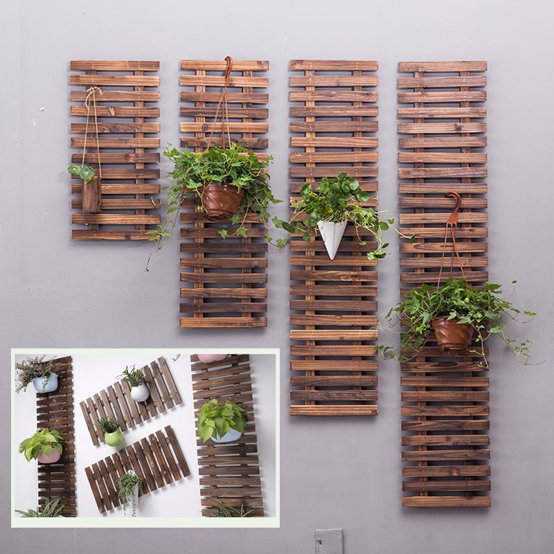 庭院碳化木爬藤花架