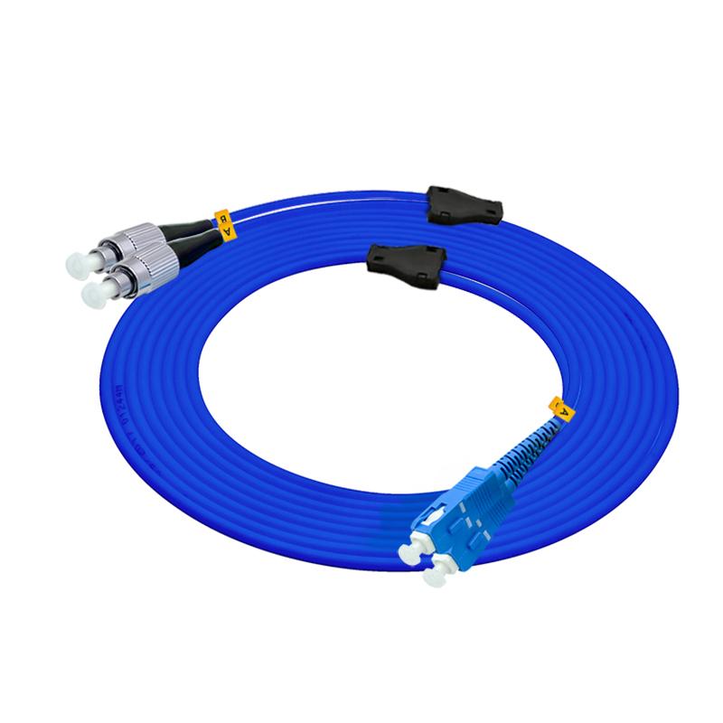 电信级200米SC-FC单模双芯铠装光纤跳线单模铠甲线防鼠金属钢丝