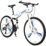 永久一体轮山地自行车学生男女折叠26寸24//27速双碟刹变速单车