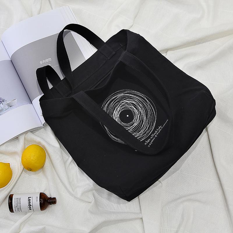 梵花不语抽象宇宙帆布包,送女朋友50元左右文艺百搭礼物