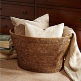Harbor House rattan storage basket basket handle with lid storage box dirty clothes storage box glove box