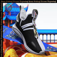 Li Ning COUNTERFLOW Retrospective X Chen Peng New York Fashion Week Catwalk Series Wenwu Double Full Embroidered Men's Casual Shoes