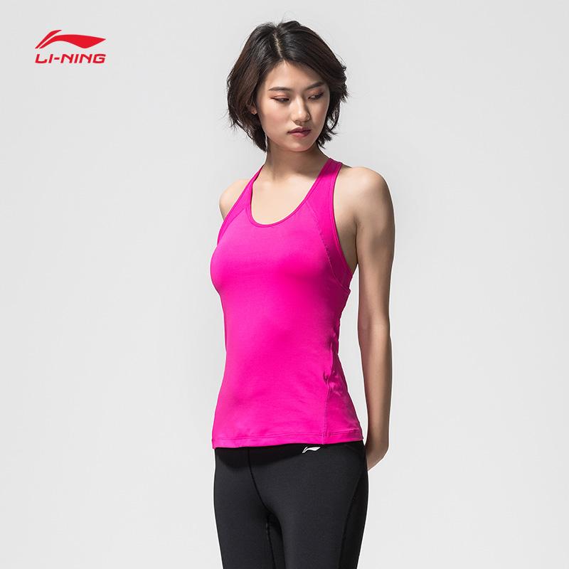 李宁健身衣女士新款训练系列背心瑜伽凉爽紧身短装夏季速干运动服