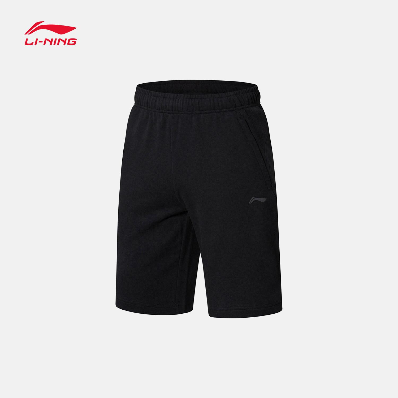 李宁短卫裤男士2018新款训练系列男装夏季短装针织运动裤AKSN251