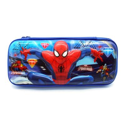 蜘蛛侠笔袋3D立体动漫卡通儿童小学生男孩文具盒大容量硬壳铅笔盒