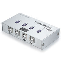 Victory for printer sharing device 4-port usb automatic switcher USB one for four four-in-one output line