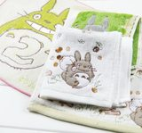 Export Japanese handkerchief cotton Chinchilla handkerchief TOTORO cotton small square cartoon handkerchief