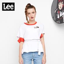 Lee女款 2018年秋季漫威系列舒适白色短袖T恤L30417K99K14图片