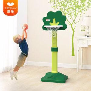 澳乐儿童篮球架宝宝可升降投篮架篮球框室内外男孩球类小孩玩具