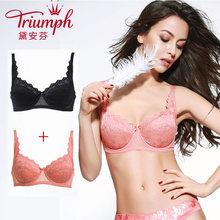 575I 黛安芬内衣女性感蕾丝胸罩薄杯透气支撑文胸套装 Triumph
