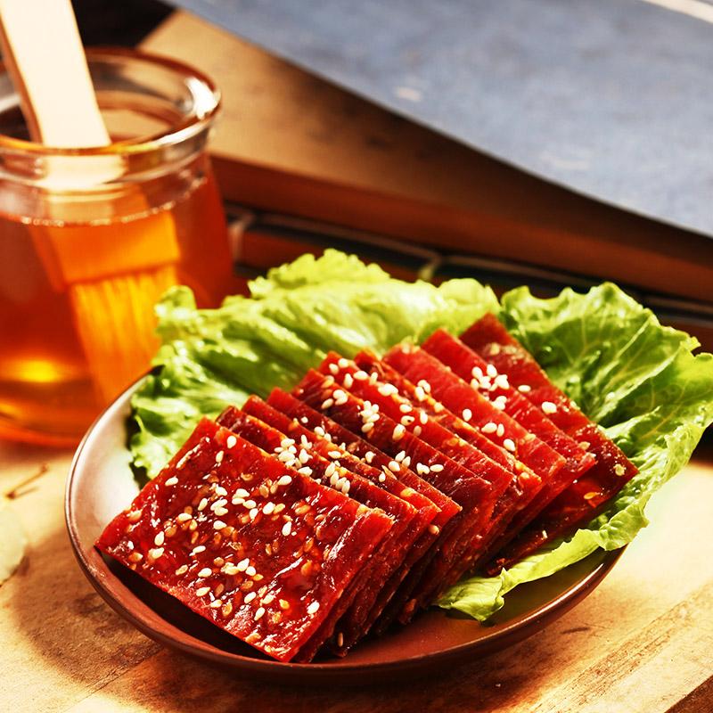 牛叉叉蜜汁猪肉脯500g包邮散装原味猪肉干靖江肉铺浦零食5斤整箱,网红进口零食猪肉脯