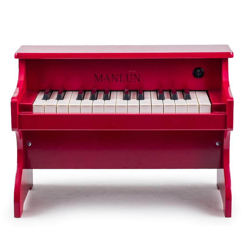 曼伦 儿童钢琴电子琴启蒙音乐小钢琴环保1-3-5婴幼儿宝宝玩具礼物