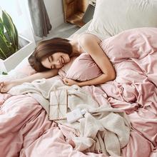 简约北欧加厚被套床单床上用品1.8m 秋冬款 保暖纯色天鹅绒四件套图片