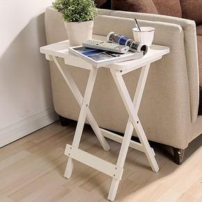 简约折叠桌子阳台可折叠餐桌小方桌简易书桌户外便携式桌实木桌