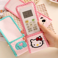 Creative cute cloth plush remote control protective cover waterproof TV air conditioning set-top box remote control board dust cover