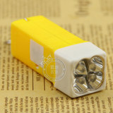 Ultra-bright white-light mini-LED torch with latch key button flashlight