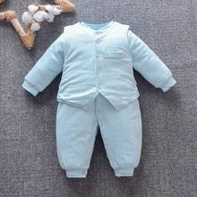 9个月男女宝宝薄棉哈衣长袖 保暖夹棉冬1爬服 婴儿春秋装 连体衣3