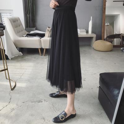 【重磅】秋季新款韩国高端网纱仙女裙大摆裙蓬松半身裙高腰A字裙