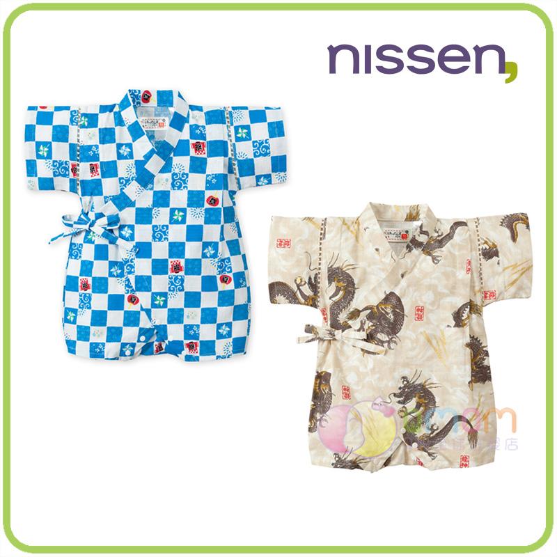 现货 日本nissen童装2019日式和服婴儿衣服夏 薄款纯棉宝宝连体衣