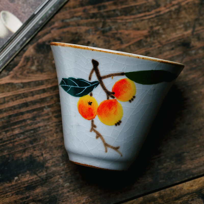 手绘粉彩茶具杯子