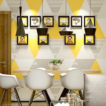 立体马赛克纯色无纺布壁纸3D北欧电视背景墙纸客厅欧式现代简约