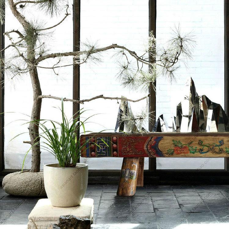 古典实木条凳