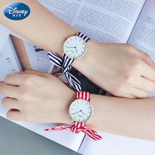 迪士尼女士绑带手表女学生新款 潮流韩版 时尚 正品 简约石英少女手表