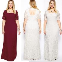 新款胖MM女装欧美晚礼服200斤夏季短袖连衣裙加肥加大码蕾丝长裙