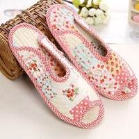 Korean version of the ultra-comfortable home interior fabric mute soft cloth bottom non-slip cotton cloth slippers