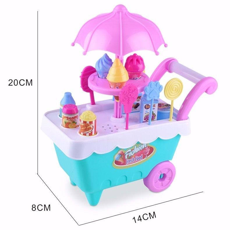 过家家玩具套装儿童玩具小女孩可爱多冰激凌小推车多功能仿真超市