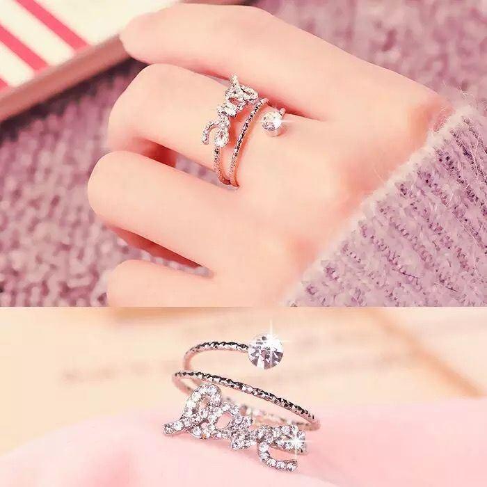 【买2送一】戒指女指环潮人尾戒简约食指开口关节戒个性大气饰品