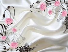 大型壁画订制简约现代卧室客厅沙发电视背景墙无纺布墙纸壁纸繁花
