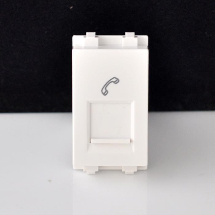 西蒙开关32系列 1/3位四芯电话插座功能件 TE4(1/3)