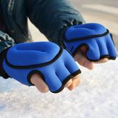 负重手套 散打 手腕沙袋拳击手套 半指格斗手套1KG公斤铁砂护手掌
