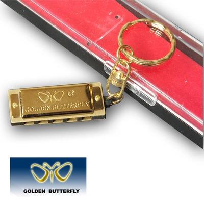 金蝶WH5A-2 5孔10音迷你口琴 五孔钥匙圈式 金色 挂件包邮年中大促