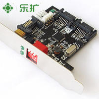 乐 Expansion Array Card Dual Channel Hard Drive Accelerator Card SATA2 Generation RAID Card Support RAID0/1 Free Drive