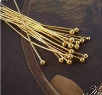 DIY Jewelry Accessories k Gold KC Gold Round Head T Needle
