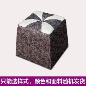 颜色面料随机发货 成都正品沙发布艺沙发脚蹬  沙发凳换鞋凳