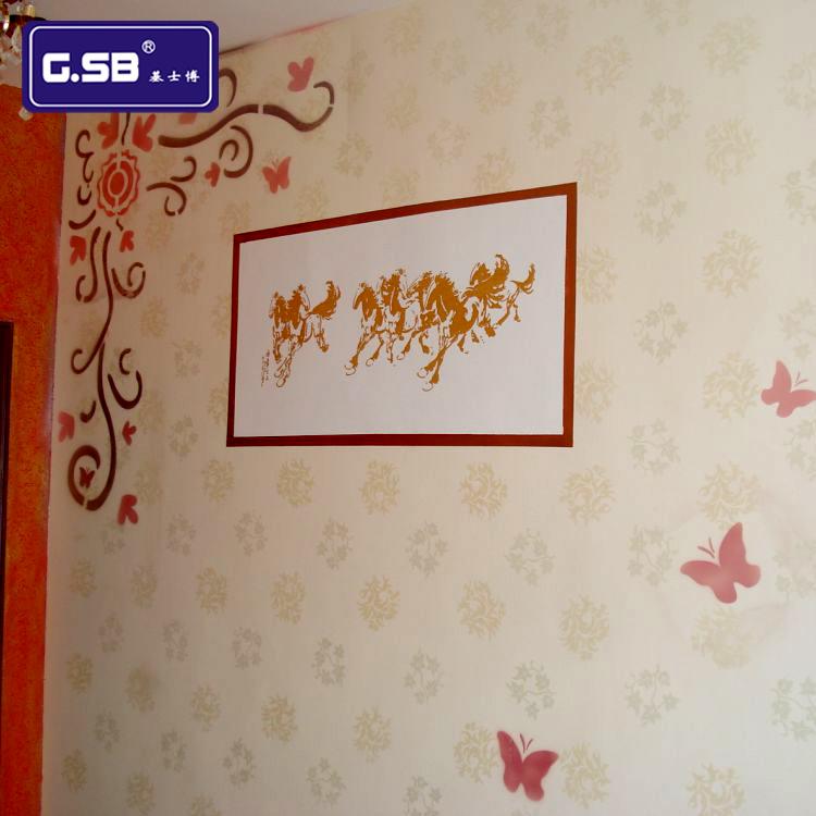 硅藻泥艺术涂料乳胶漆客厅背景墙镂印印花模具 组合镂印ANC-25-48