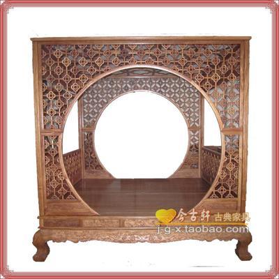 厂家直销 中式 明式红木家具 非洲花梨木 仿古 架子床 实木拔步床多少钱