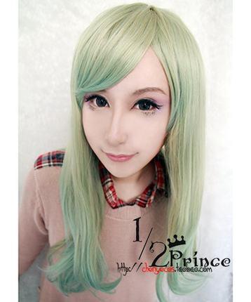 【1/2Prince 】日系原宿风渐变色长直发 lolita假发/日常假发