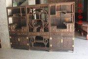 红木家具老挝大红酸枝书架三组合书柜交趾黄檀多宝阁明清博古架
