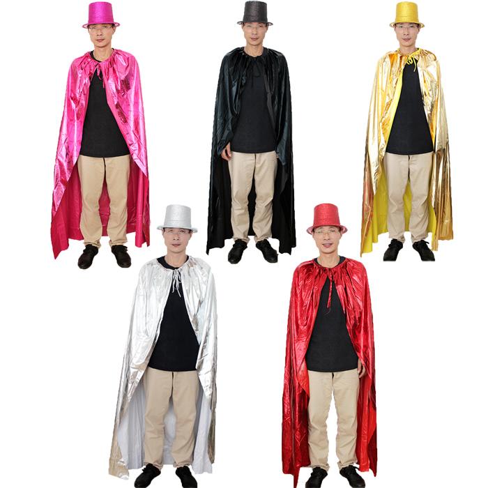 三怪 圣诞节儿童服装服饰 魔术表演演出道具 成人烫金布披风高帽