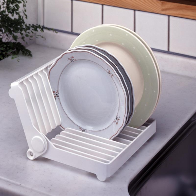 日本KM厨房置物架折叠式沥水碗架盘子沥水架水槽放碗碟收纳架子